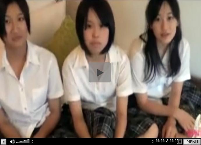 【無修正レズ動画】仲良し3人組の素人女子校生をラブホテルに連れて行きレズプレイをしてもらい個人撮影する♡