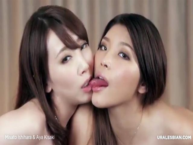 【無修正レズ動画】「石原みさと」と「希咲あや」が唾液たっぷりのキスや濃厚な愛撫で絡み合う素敵な姿♡