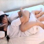 【セックスレズ動画】綺麗で淫乱なナースが病院のベッドでレズプレイ…いやらしく身体を舐め足の指を使った指マンや貝合わせで感じまくる♡