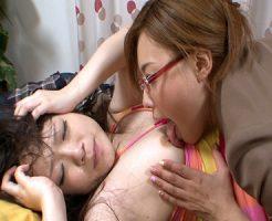 【AV女優レズ動画】バリタチのJK「瀬名あゆむ」が「南梨央奈」の顔中を舐め回しレイプ気味に貝合わせセックス♡