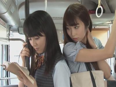 【セックスレズ動画】痴漢から始まる恋…レズビアンOLと女子校生の燃えるような恋愛ドラマ♡